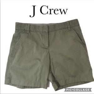 J Crew classic chino khaki shorts size 4